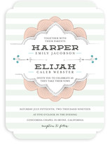 Striped Sweet Nothings Foil-Pressed Wedding Invitations