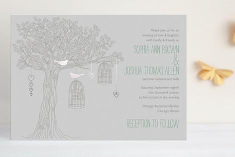 Love Let Loose Foil-Pressed Wedding Invitations