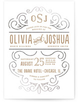 Luxe Impression Foil-Pressed Wedding Invitations