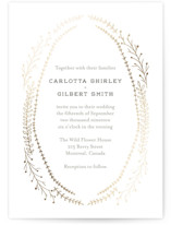 Wanderlust Wreath Foil-Pressed Wedding Invitations