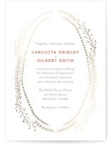 Wanderlust Wreath Foil-Pressed Wedding Invitations