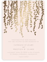Cascade Foil-Pressed Wedding Invitations