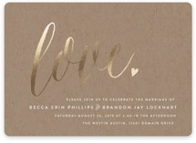Charming Love Foil-Pressed Wedding Invitations