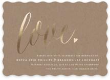 Charming Love Foil-Pressed Wedding Invitations