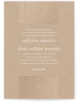 Delicate Dots Foil-Pressed Wedding Invitations