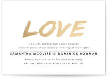 Expressionist Foil-Pressed Wedding Invitations