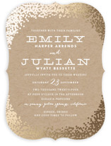 Gold Rush Foil-Pressed Wedding Invitations