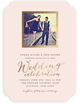 Modern Photo Frame Foil-Pressed Wedding Invitations