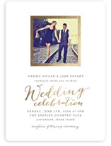 Modern Photo Frame Foil-Pressed Wedding Invitations