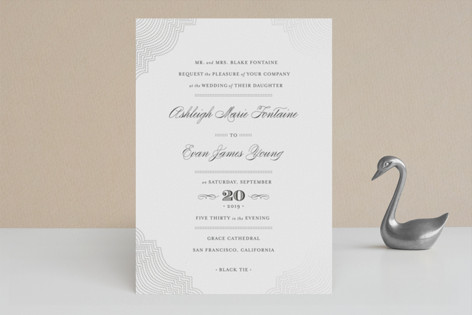 Splendorous Foil-Pressed Wedding Invitations