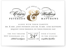 Dapper Amper Foil-Pressed Wedding Invitations