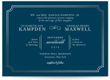 Classy Type Foil-Pressed Wedding Invitations