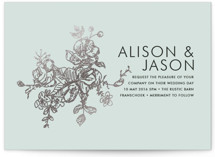 Elegance Illustrated Foil-Pressed Wedding Invitations