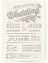 Rustic Charm Foil-Pressed Wedding Invitations