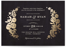 Sun Bleached Florals Foil-Pressed Wedding Invitations