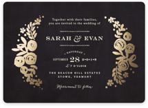 Sun Bleached Florals Foil-Pressed Wedding Invitations
