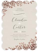 Sun Prints Foil-Pressed Wedding Invitations