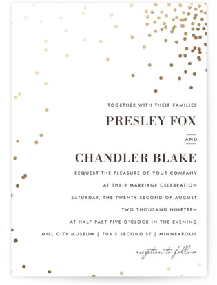 Thrilling Foil-Pressed Wedding Invitations