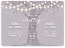 Garden Lights Foil-Pressed Wedding Invitations