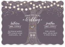 Garden Lights Foil-Pressed Wedding Invitations