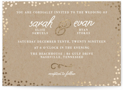 Starlight Foil-Pressed Wedding Invitations