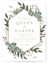 Succulent Surround Foil-Pressed Wedding Invitations
