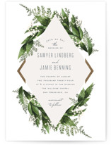 Diamante Foil-Pressed Wedding Invitations