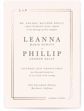 Traditional Twist Foil-Pressed Wedding Invitations