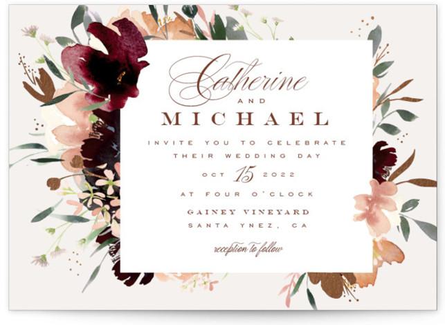 harvest Foil-Pressed Wedding Invitations