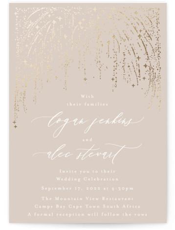 Starry Sky Foil-Pressed Wedding Invitations