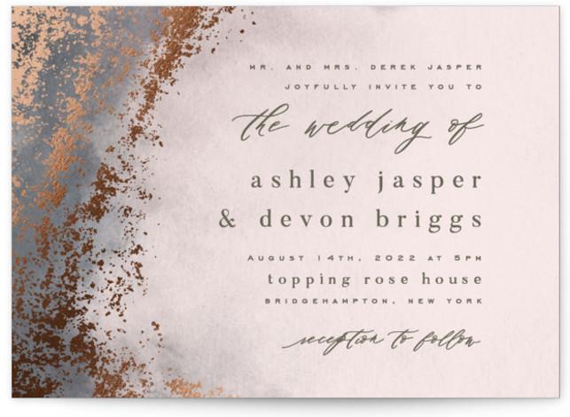 Tidal Foil-Pressed Wedding Invitations