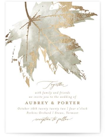 Blueridge Foil-Pressed Wedding Invitations