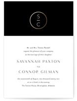 New Monogram Foil-Pressed Wedding Invitations