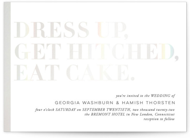 Basically Gloss Press Wedding Invitations