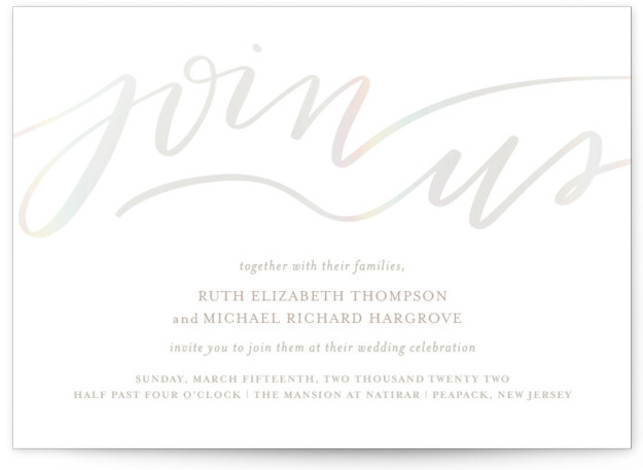 Join Us Gloss Press Wedding Invitations