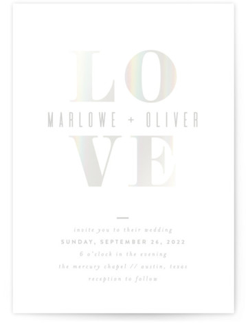 Understated Love Gloss Press Wedding Invitations