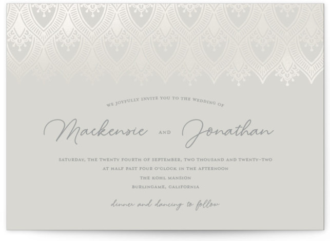 Bohemia Gloss Press Wedding Invitations