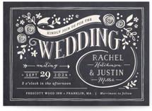 Alabaster Florals Wedding Invitation Petite Cards