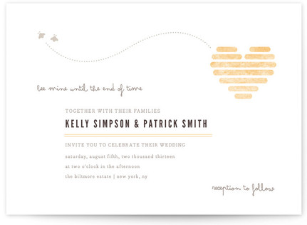 Honeycomb Heart Wedding Invitations