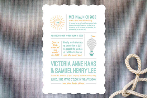 Time Flies Wedding Invitations