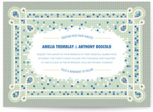 Mosaic Wedding Invitations