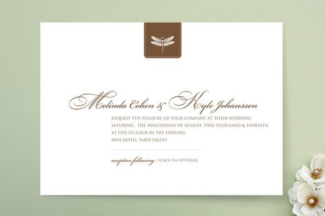 Classic Dragonfly Emblem Wedding Invitations