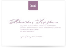 Classic Dragonfly Emblem Wedding Invitations