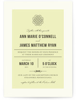 Vintage Celtic Knot Wedding Invitations