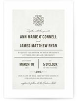 Vintage Celtic Knot Wedding Invitations