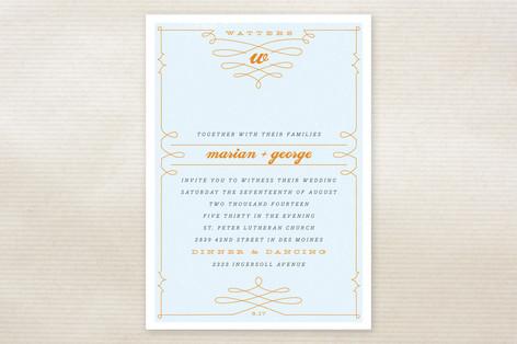 Mr. Watters Wedding Invitations