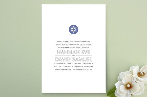 Modern Star Wedding Invitations