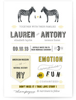 The Zebras Wedding Invitations