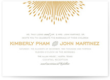 Glam Burst Wedding Invitations