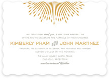 Glam Burst Wedding Invitations